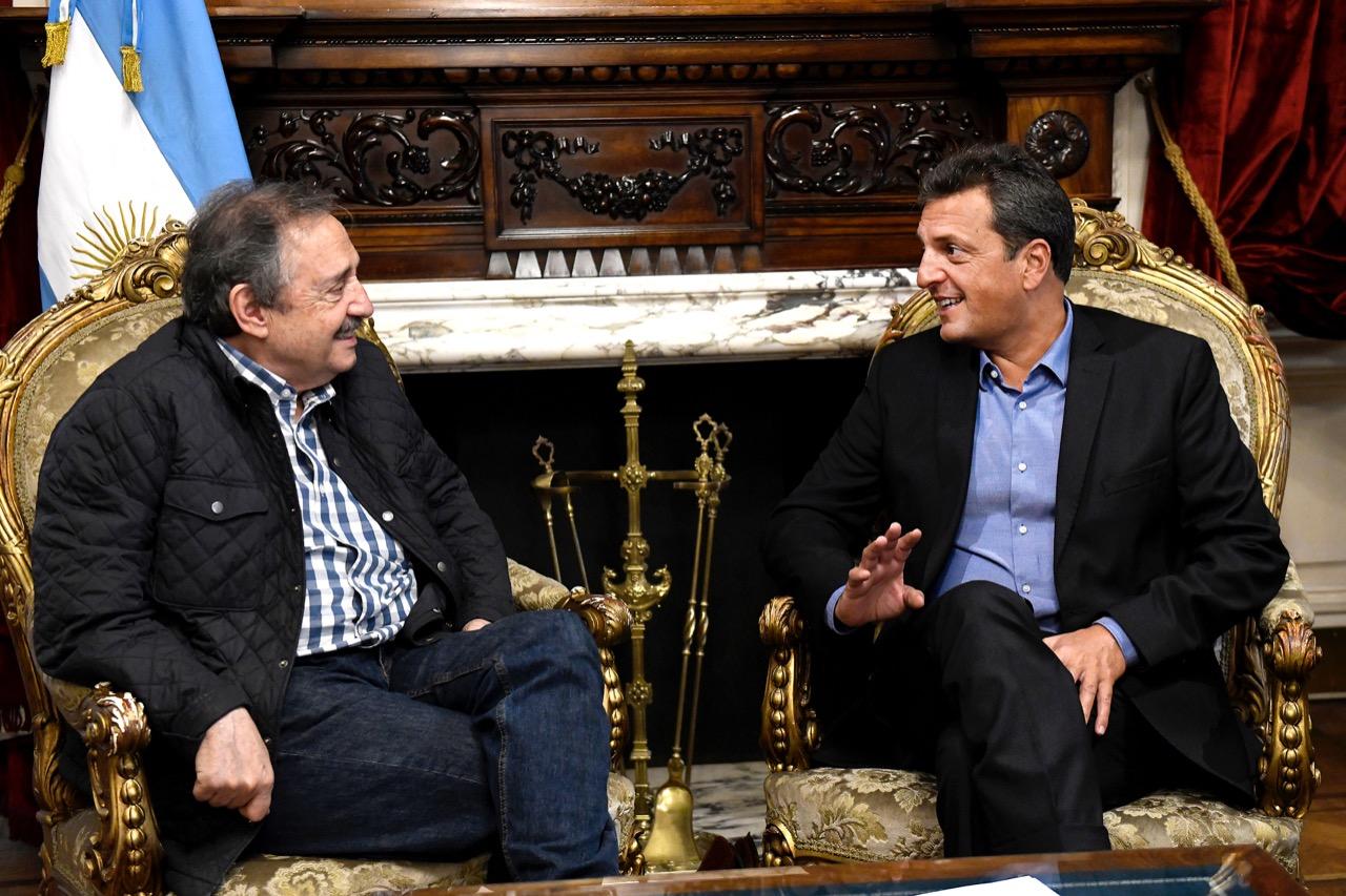 Massa se reunió con Alfonsín