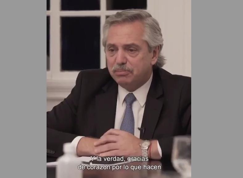 Alberto Fernández: «Es una pelea de todos nosotros»